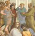 Raffaello, Particolare della Scuola di Atene
